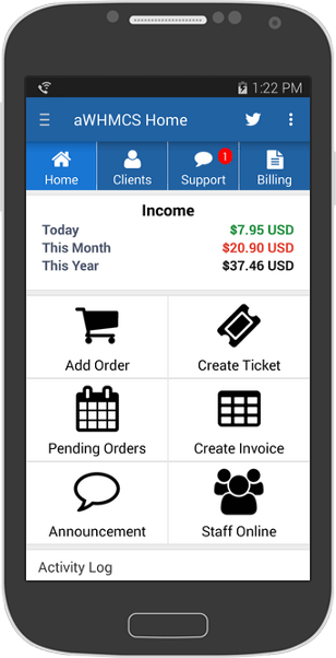 iWHMCS iPhone App - Support Tickets