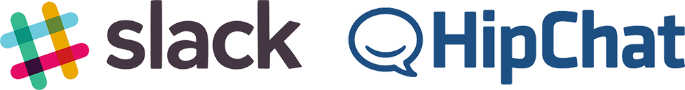Slack and HipChat Logos