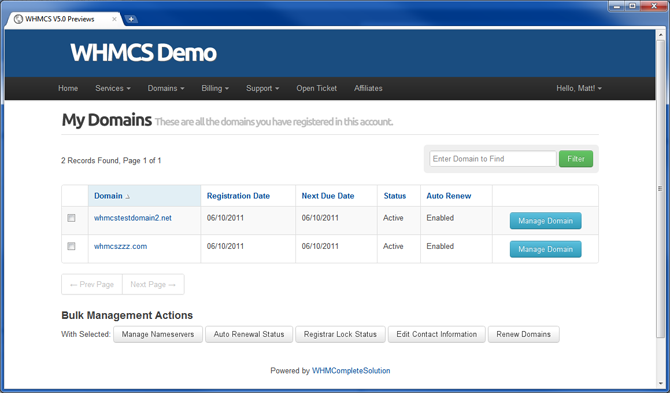 WHMCS V5 0 Client Area First Look | WHMCS Blog