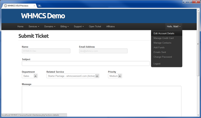 whmcs v5 0 client area first look whmcs blog