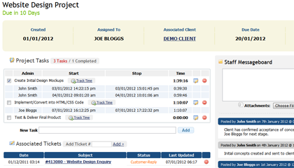 Project Management Addon from WHMCS